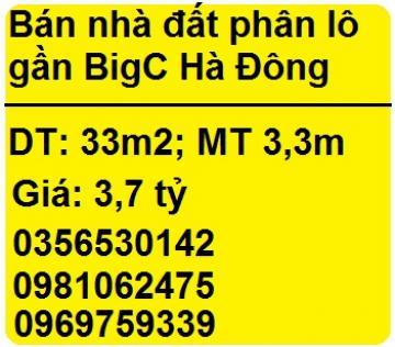 Bán nhà đất phân lô gần BigC Hà Đông, ô tô vào, KD tốt, 3,7 tỷ, 0981062475