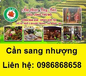 Nhượng toàn bộ nhà hàng đặc sản Tây Bắc tại Quang Trung, Hà Đông, 0986868658